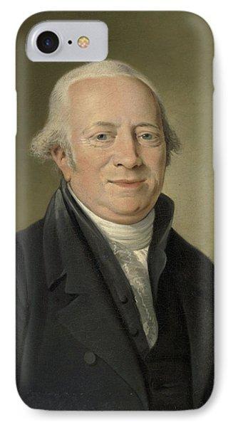 Portrait Of Cornelis Sebille Roos, Art Dealer In Amsterdam IPhone Case by Litz Collection