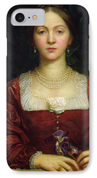 Portrait Of Countess Of Airlie IPhone Case by George Frederick Watts