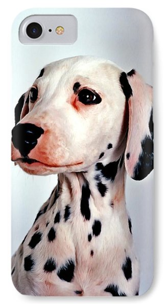 Portrait Of Dalmatian Dog IPhone Case by Lanjee Chee