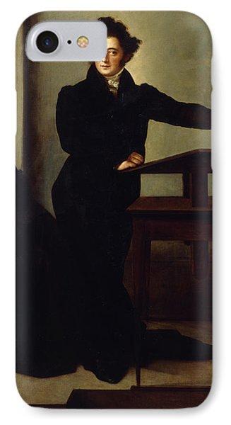 Portrait Of Eduard Gans 1829 IPhone Case by Wilhelm Hensel