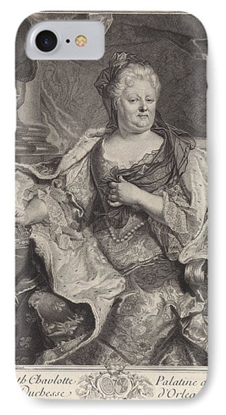 Portrait Of Elizabeth Charlotte Of The Palatinate IPhone Case by Louise Magdeleine Horthemels
