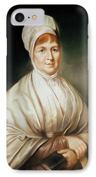 Portrait Of Elizabeth Fry 1780-1845 IPhone Case by English School