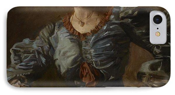 Portrait Of Elizabeth L Burton Phone Case by Thomas Cowperthwait Eakins
