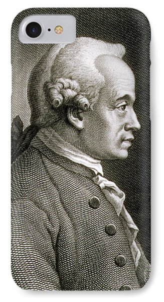 Portrait Of Emmanuel Kant IPhone Case