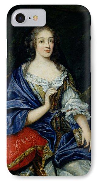 Portrait Of Francoise-louise De La Baume Le Blanc 1644-1710 Duchesse De Vaujour, Called IPhone Case by Jean Nocret