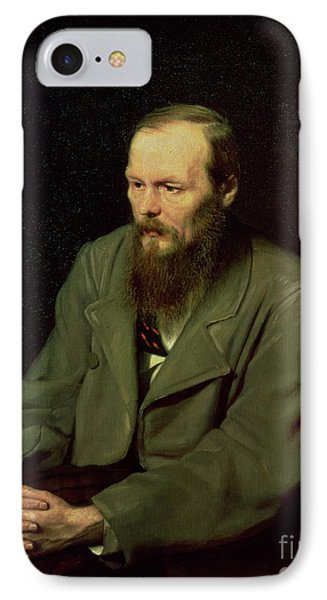 Portrait Of Fyodor Dostoyevsky IPhone Case by Vasili Grigorevich Perov