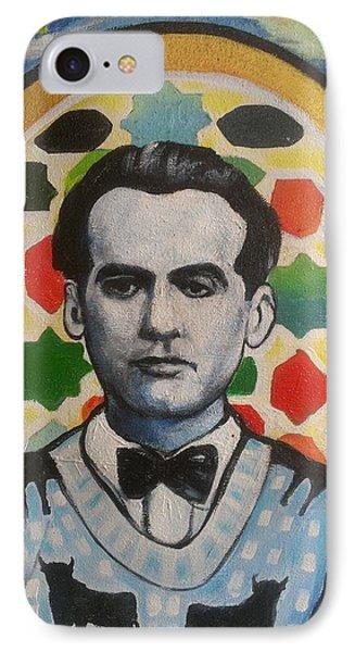 Portrait Of Garcia Lorca IPhone Case by Karim Lachheb