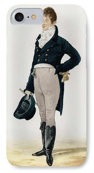Portrait Of George Beau Brummell IPhone Case by Robert Dighton