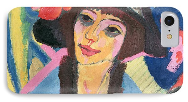 Portrait Of Gerda Phone Case by Ernst Ludwig Kirchner