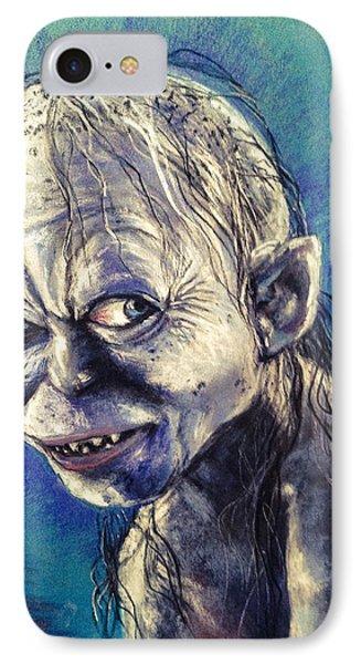 Portrait Of Gollum Phone Case by Alban Dizdari