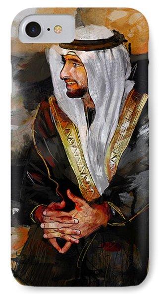 Portrait Of Hamdan Bin Mohammad Bin Rashid Al Maktoum 2 IPhone Case by Maryam Mughal