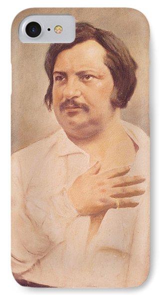 Portrait Of Honore De Balzac IPhone Case by French School
