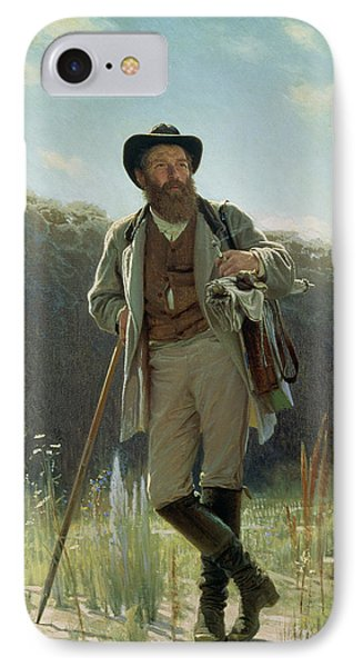Portrait Of Ivan Ivanovich Shishkin IPhone Case by Ivan Nikolaevich Kramskoy