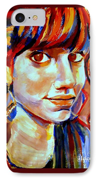 Portrait Of Ivana Phone Case by Helena Wierzbicki