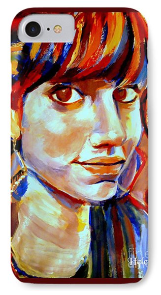 IPhone Case featuring the painting Portrait Of Ivana by Helena Wierzbicki