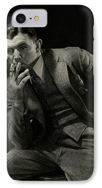 Portrait Of James J. Braddock IPhone Case by Edward Steichen