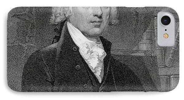 Portrait Of James Madison IPhone Case by Gilbert Stuart