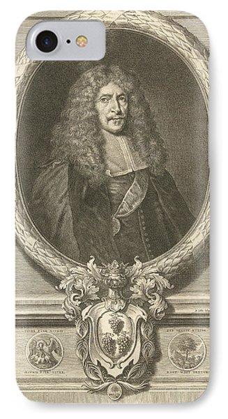 Portrait Of Joachim Von Sandrart, Richard Collin IPhone Case by Richard Collin