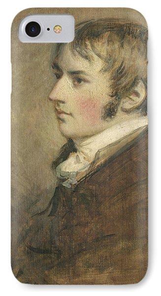 Portrait Of John Constable Aged Twenty Phone Case by Daniel Gardner