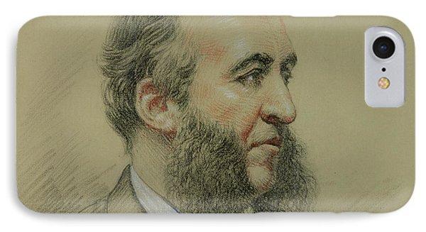 Portrait Of Jules Ferry IPhone Case by Paul Sarrut