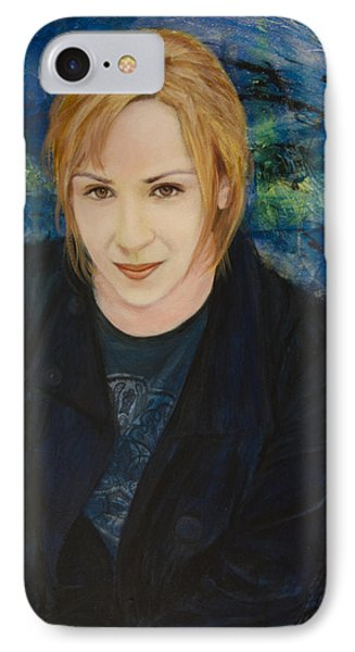 IPhone Case featuring the painting Portrait Of Katarzyna Magda by Ron Richard Baviello