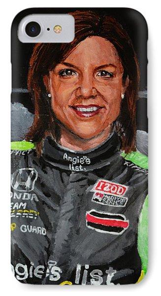 Portrait Of Katherine IPhone Case by P D Morris