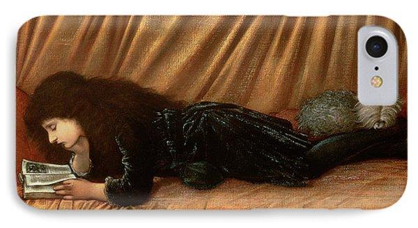 Portrait Of Katie Lewis IPhone Case by Sir Edward Coley Burne-Jones