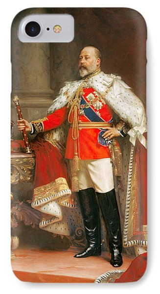 Portrait Of King Edward Vii IPhone Case by Mountain Dreams