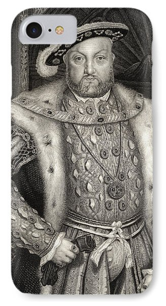 Portrait Of King Henry Viii  IPhone Case by Hans Holbein the Younger