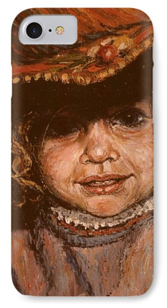 IPhone Case featuring the painting Portrait Of Leticia by Walter Casaravilla