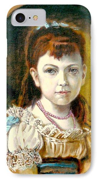 Portrait Of Little Girl IPhone Case by Henryk Gorecki
