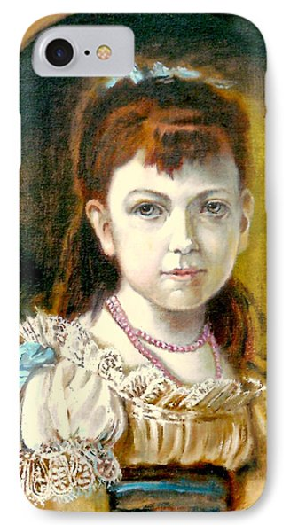 Portrait Of Little Girl IPhone Case by Henryk Gorecki