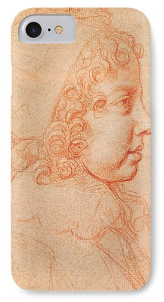 Portrait Of Louis Xiv As A Child Red Chalk On Paper IPhone Case