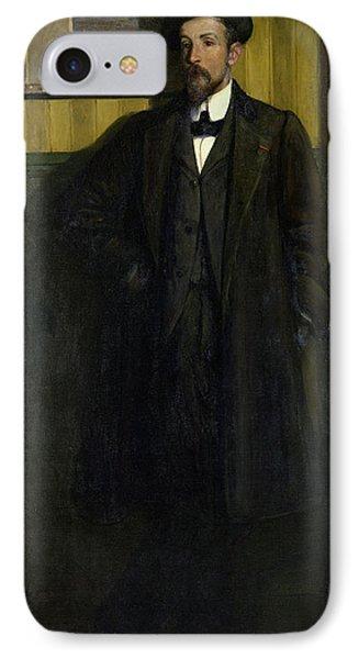Portrait Of Lucien Simon 1864-1945 1907 Oil On Canvas IPhone Case