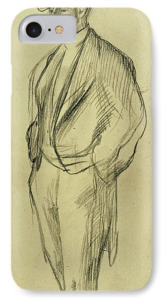Portrait Of Ludovic Halevy Phone Case by Edgar Degas
