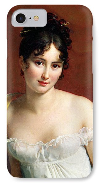 Portrait Of Madame Recamier  IPhone Case by Francois Pascal Simon Baron Gerard