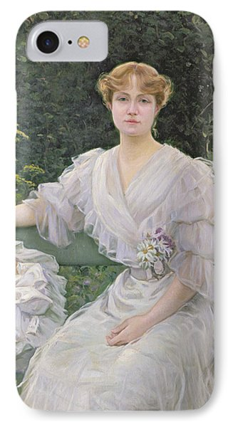Portrait Of Marguerite Durand IPhone Case by Jules Cayron