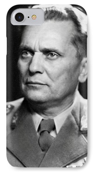 Portrait Of Marshal Tito IPhone Case by Underwood Archives