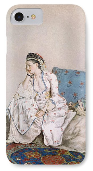 Portrait Of Mary Gunning IPhone Case by Jean-Etienne Liotard