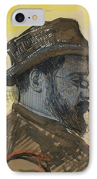 Portrait Of Maximilien Luce Phone Case by Paul Signac