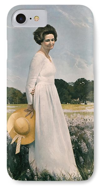 Portrait Of Mrs Lyndon B Johnson Phone Case by Mountain Dreams