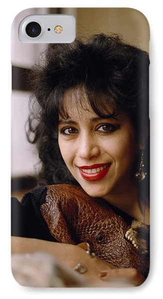 Portrait Of Ofra Haza IPhone Case by Shaun Higson