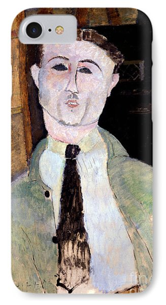 Portrait Of Paul Guillaume IPhone Case by Amedeo Modigliani