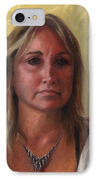 Portrait Of Paula Phone Case by Terri  Meyer