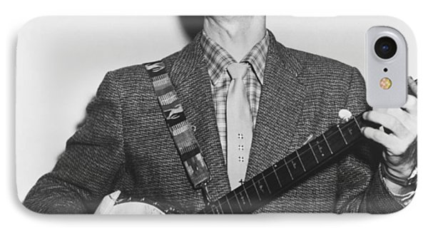 Portrait Of Pete Seeger IPhone Case by Fred Palumbo