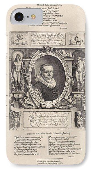 Portrait Of Peter Hogerbeets, Print Maker Jan Saenredam IPhone Case