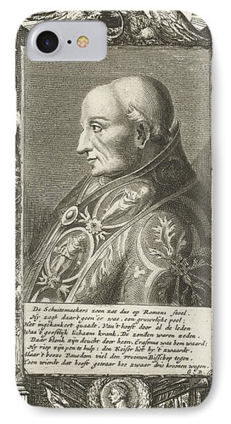 Portrait Of Pope Adrian Vi, Hendrik Bary IPhone Case by Hendrik Bary And Geeraert Brandt (i)