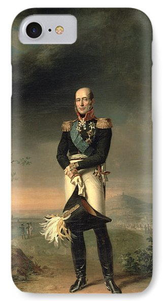 Portrait Of Prince Mikhail Barclay De Tolly 1761-1818, 1829 Oil On Canvas IPhone Case by George Dawe