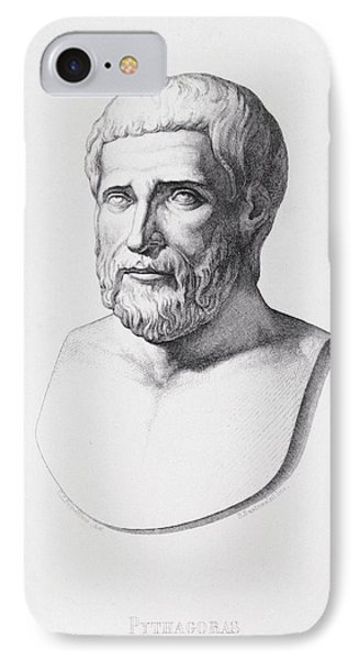 Portrait Of Pythagoras IPhone Case by CC Perkins