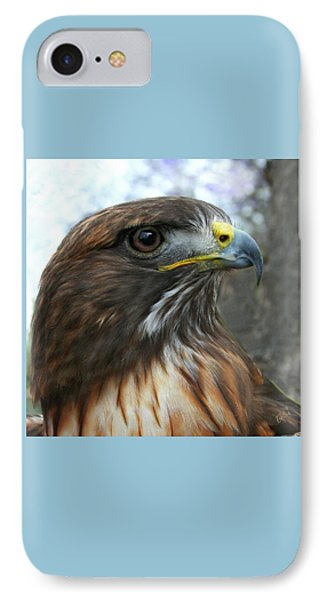 Portrait Of Red-shouldered Hawk IPhone Case